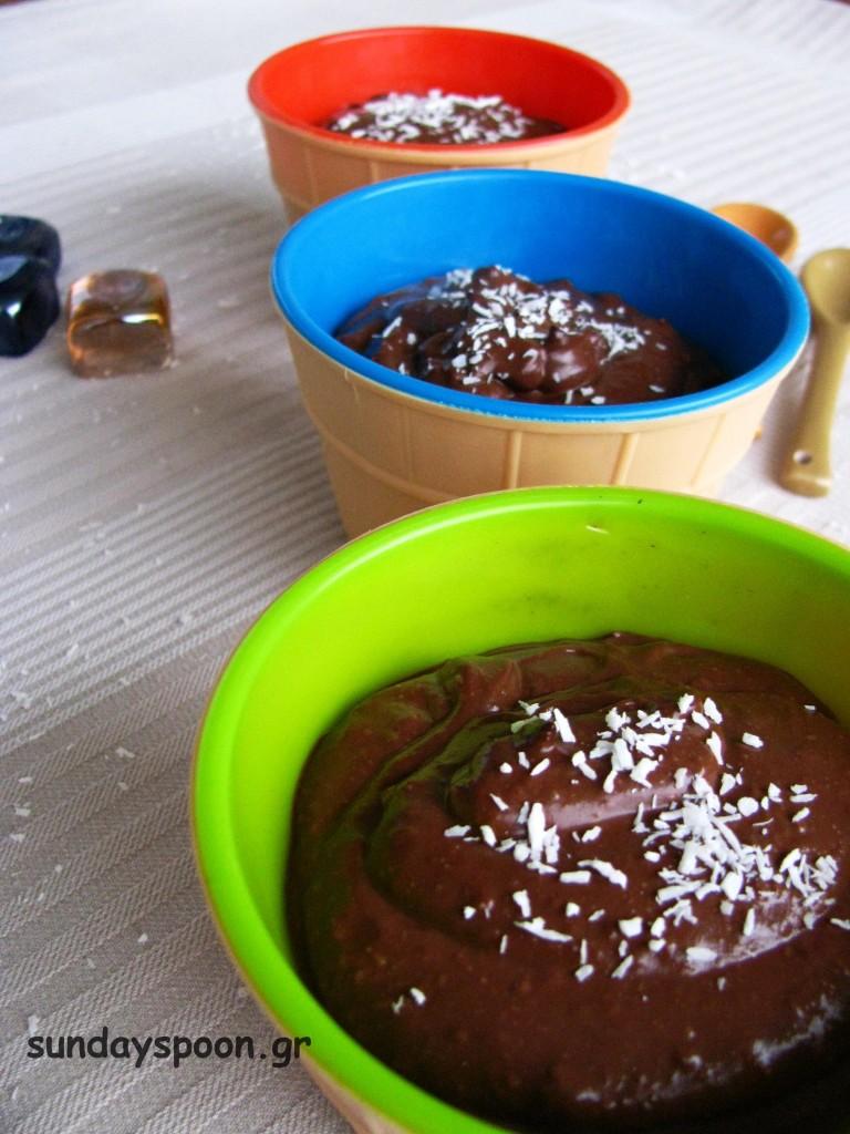 Μους σοκολάτα καρύδα (νηστίσιμη και vegan)