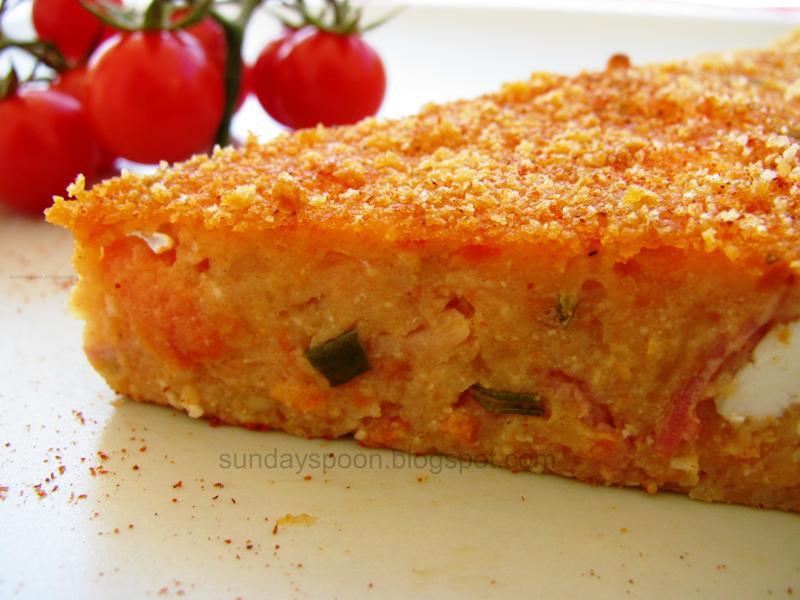 Ντοματόπιτα με μπέικον