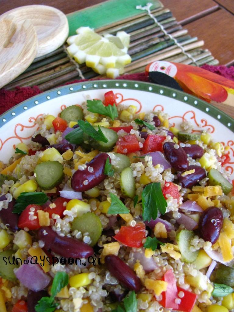 Μεξικάνικη σαλάτα με κινόα