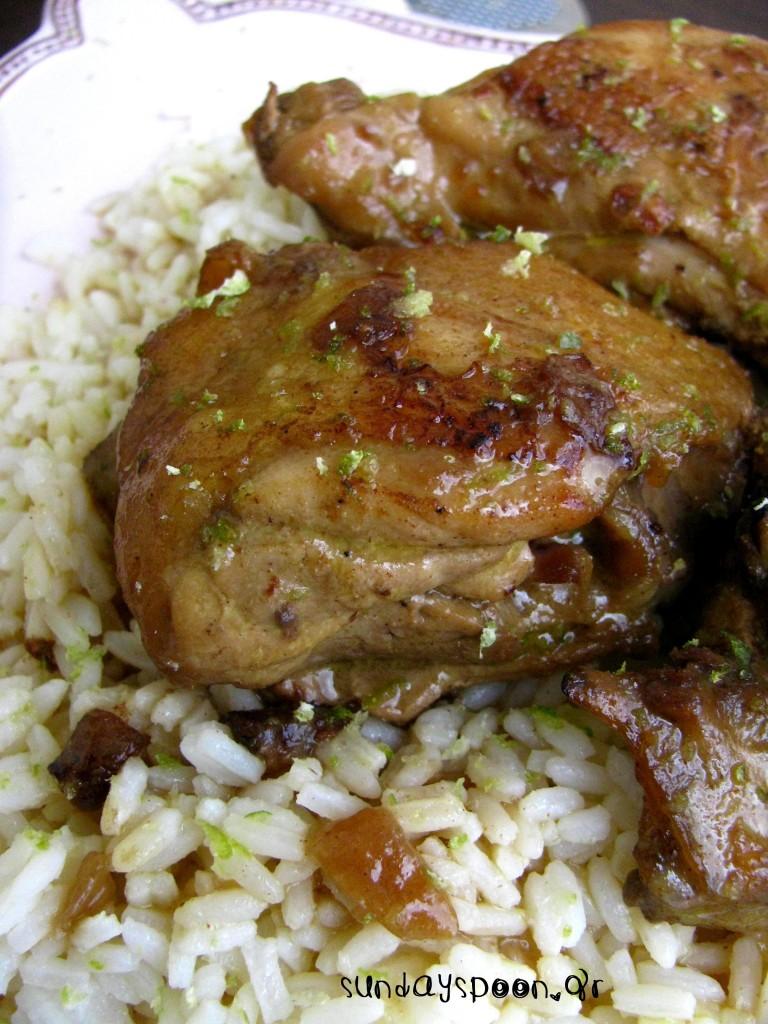 Πικάντικο κοτόπουλο με γάλα καρύδας