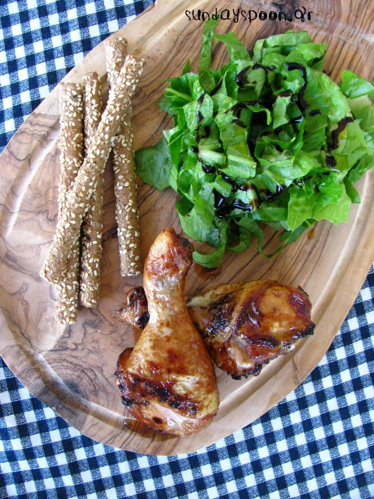 Ζουμερό κοτόπουλο (κοπανάκια) στο γκριλ