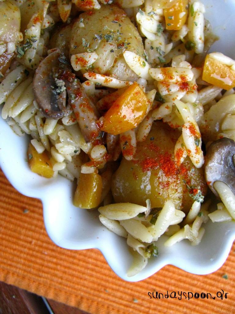 Κριθαρότο με κολοκύθα και κάστανο